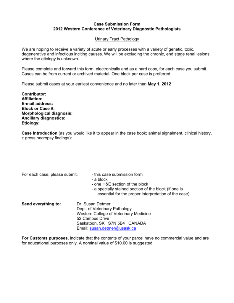 Case Submission Form