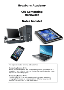 Hardware notes booklet
