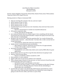Joint Minority Affairs Committee Meeting Minutes February 16, 2015