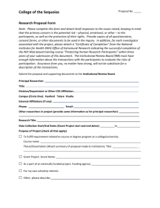 Research Proposal Form - College of the Sequoias