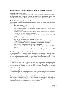 Guidance Notes for Project Information Sheet (MS Word , 25kb)