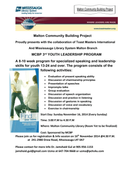Leadership Opportunity for Grade 8s