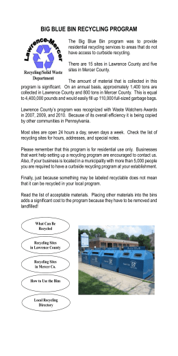 Big Blue Bin Recycling Drop