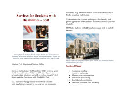 SSD Student Brochure - Services for Students with Disabilities