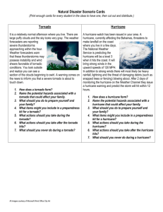 Natural Disaster Scenario Cards