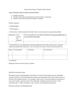 Practical Exam Report Template Wafer Transfer