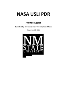 PDR Report - Atomic Aggies - New Mexico State University