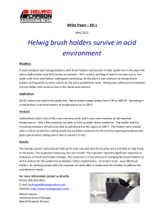 Helwig Carbon brush holders survive acid environment