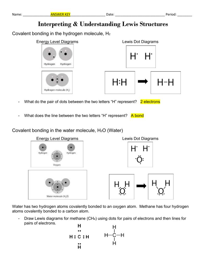 worksheet Lewis Dot Diagrams Worksheet interpreting understanding lewis structures