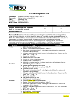 2014 DRWG Management Plan