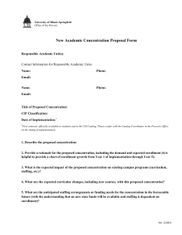 New Academic Concentration Proposal Form