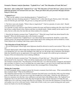the education of frank mccourt summary