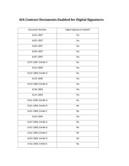 AIA Document Unit (DU) Value List