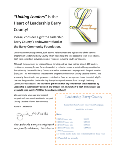 Read more. - Leadership Barry County