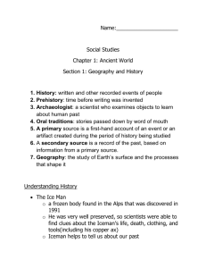 Ch. 1 section 1 notes and timeline