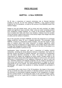PRESS RELEASE MARTHA – A New HORIZON