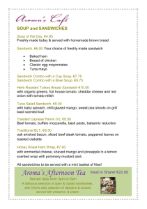 Lunch Menu - Landmark Hotel