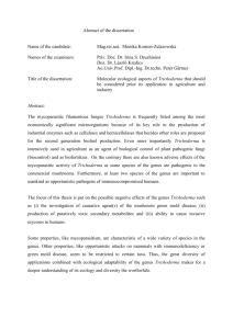 Abstract of the dissertation Name of the candidate: Mag.rer.nat