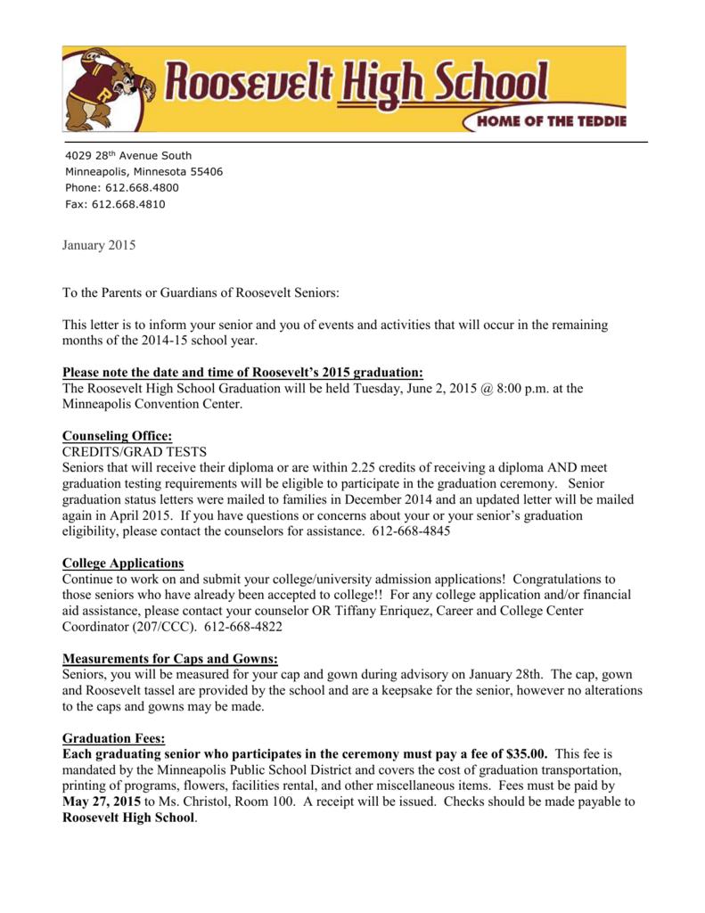 Graduation Information - Roosevelt High School