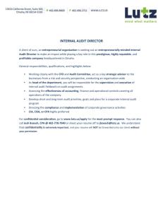 Permanent Audit Files (PAF) and Current Audit Files (CAF) For