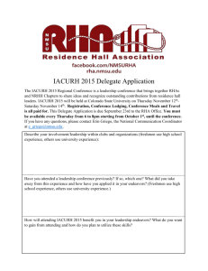 IACURH 2015 Delegate Application