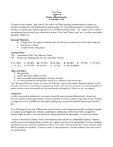Algebra I Syllabus: Mrs - San Leandro Unified School District