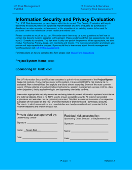 Information System Pre-Purchase Security Checklist
