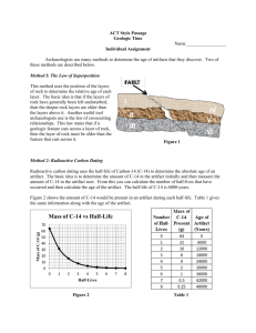 Geology with Terry J. Boroughs Geologic Dating Homework
