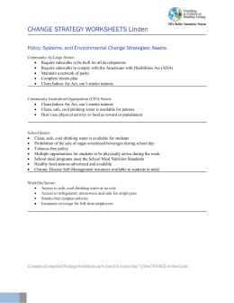 change strategy worksheets