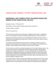 Signature Works: Story Innovation Lab