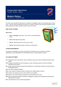 Modern History Outline - Liverpool Girls` High School