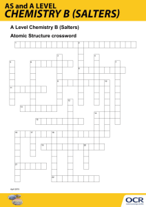 Atomic structure - Crossword