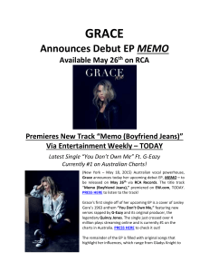 Grace EP Press Release_May 18, 2015 FINAL
