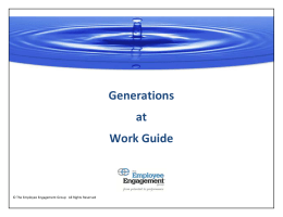 Generations at Work Guide - The Employee Engagement Group
