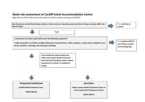 Ebola algorithm for Cardiff Initial Accommodation