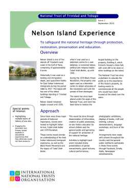 Nelson Island - The International National Trusts Organisation (INTO)