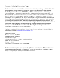 Postdoctoral Fellowship, Surgery Department, Schwulst Group