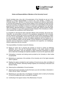 Duties and Responsibilities of Members of the University Council