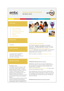 embc Weekly Brief for Schools 9th March 2015