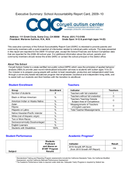 to view the 2009-2010 SARC for Coryell Autism Center