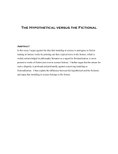 The Hypothetical versus the Fictional