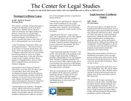 Legal prep course