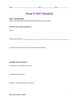 Keep It Hot! Handout
