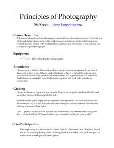 Principles of Photography