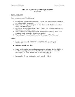 Short Story Essay Topics Second Essay Topics  Post