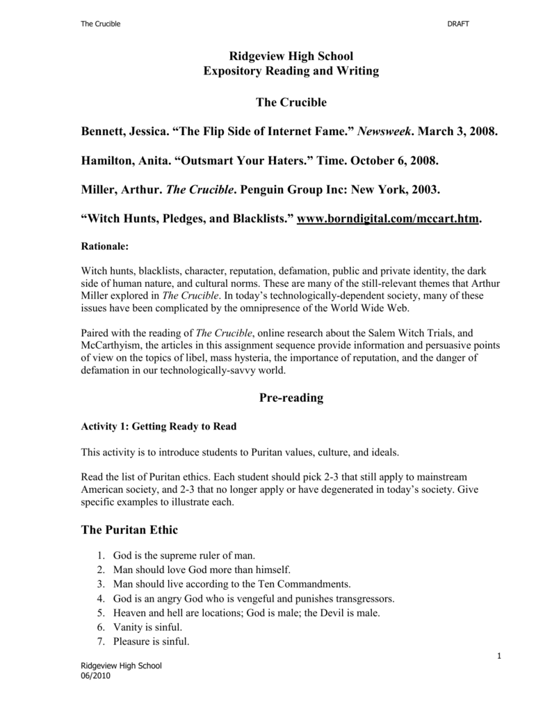 the crucible essays on reputation  crucible john proctor papers essays and research papers the crucible essays on reputation the crucible study guide gradesaver2017 the crucible is a