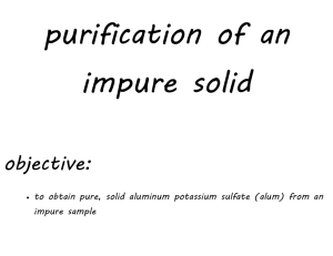 purification of an impure solid