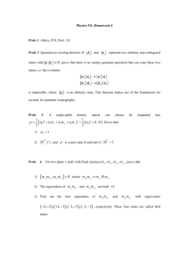 Quantum Mechanics (Physics 511) Midterm exam
