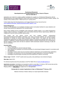 Postdoctoral Researcher Nanobiophotonics and Imaging Research