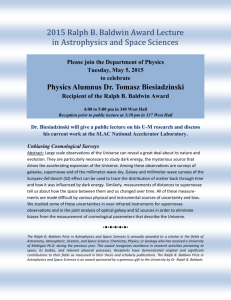 Please join the Department of Physics Tuesday, May 5, 2015